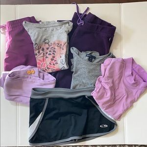 Lot of 7 girls clothes. Size 6-7.